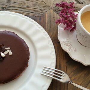 tarte au chocolat vegan avec café